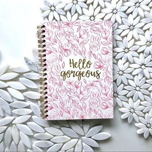 Other - Hello Gorgeous Pink Floral Journal Notebook